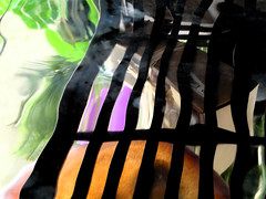 9357 / reflection at beverly's (janeland) Tags: distortion abstract black reflection colorful stripes 94015