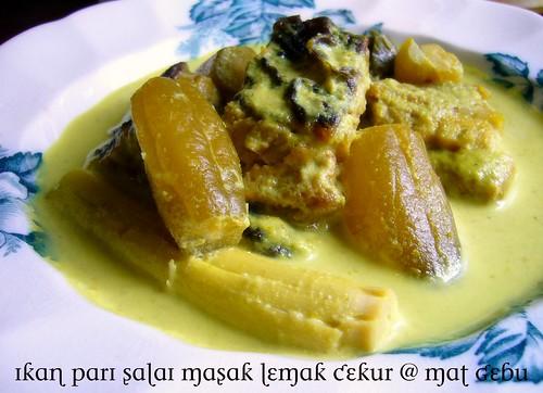 ikan pari salai masak lemak cekur