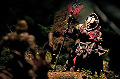He-Man VS The Evil Horde (magnushamar) Tags: man forest dark toy action evil classics figure planet leader masters he universe horde skeletor eternia hordak battlecat grizzlor