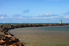 lighthouse beacon the north sea by scheveningen (drbob97) Tags: blue sea sky lighthouse water netherlands by pier blauw scheveningen den north zee hague lucht haag dijk beacon vuurtoren dike drbob drbob97