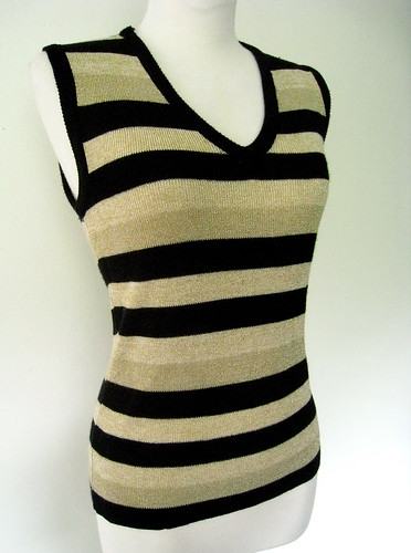 Metallic Stripes Sweater, 1970's