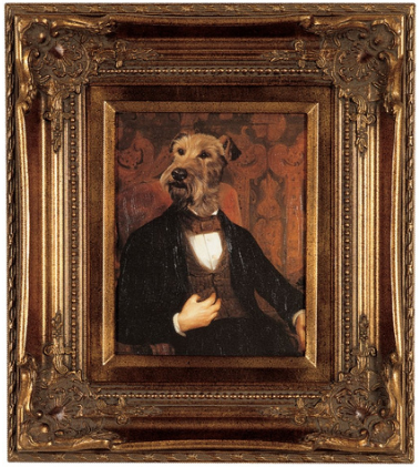 victorian dog portrait