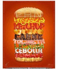 TipoHamburguesa (Juan Camilo Bedoya Vargas) Tags: photoshop colombia bellasartes adobe type artes medellin texturas bellas antioquia tipo tipografía efectos tipografias tipografías juancamilobedoya