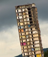 Going, Going (velton) Tags: tower fall scotland crash glasgow scottish demolition flats getty block explosive lean clydebank velton