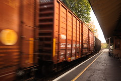 no tri pod in the way (bmallmain) Tags: train photos 10 wide foliage 20 mmx stationx lenoxx 50dx canonx trainx sigmax historicx structurex stopx anglex fallx berkshirex