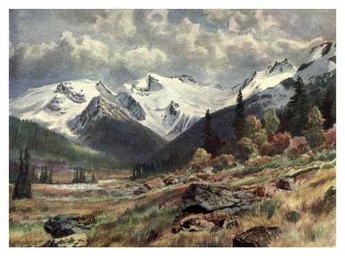 019-Valle desde el Rogers Pass-Canada-1907- Thomas Martin Mower