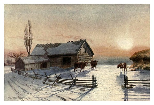 018-Una granja en invierno-Canada-1907- Thomas Martin Mower