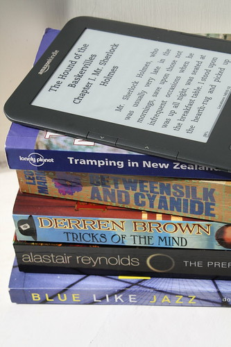 Borrowed books, and my Kindle