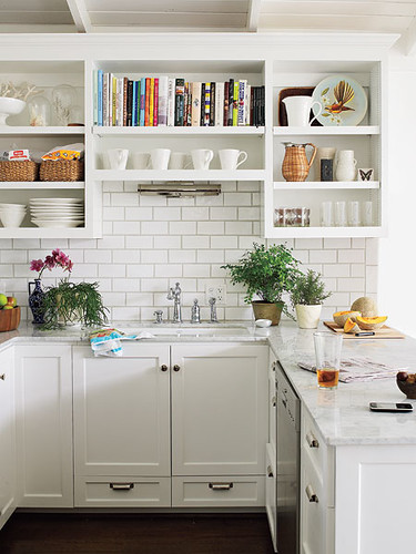 Southern Living shelf over sink