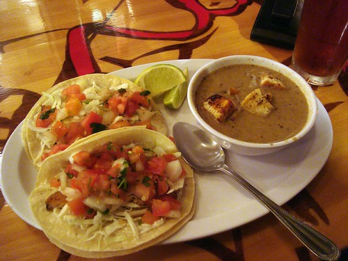 """Fish"" Tacos + Soup"
