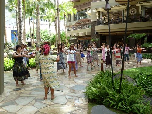 Hula Class at Royal Hawaiian Center