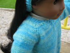 Sleeves (Nethilia) Tags: sonali socks sweater knitting americangirl