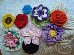 Presentinho para as amigas - flores de croche ( uma de macrame ), alegrando a primavera (E l i a n a R e i n a l d o) Tags: flores flor macrame croche grampo grampada flordecroche pérolasfolhastoalhasbarrado