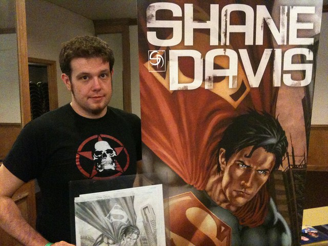 "Shane Davis (artist of the upcoming graphic novel ""Superman: Earth One"")!"