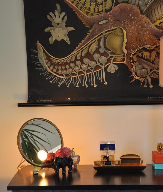 home vanity vignette