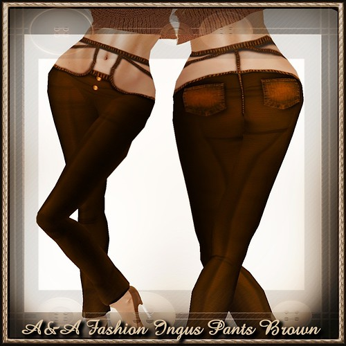 A&A Fashion Ingus Pants Brown