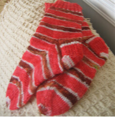 Self striping socks sized