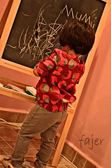 meme---------}     (Fajer Alajmi) Tags: red baby girl painting kid paint drawing draw