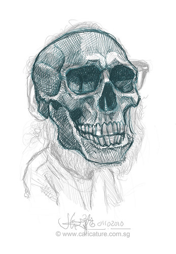 Schoolism - Assignment 6 - Sketch 1 of Bill skull