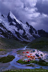 Camp Village.. (M Atif Saeed) Tags: pakistan mountain mountains nature water landscape karakoram areas northern northernareas atifsaeed gettyimagespakistanq1