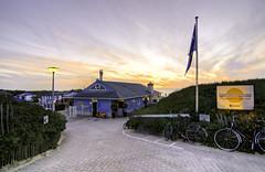 Beach cafe... (Vikaz) Tags: sunset sea holland beach netherlands cafe nikon europe dusk g dunes nederland northsea noordwijk zuidholland d90 noordwijkaanzee aanzee nikond90
