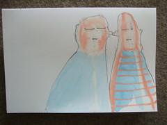 small work (wunderwesen) Tags: blue friends dog art animal pencil friend drawing kunst kln line hund blau papier freunde tier zeichnung wunderwesen karenbettytobias