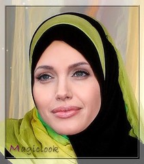 Angelina like an Angel (magiclook) Tags: pakistan islam hijab angelina jolie quran irak afganistan