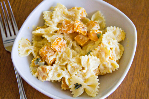 Farfalle with Butternut Squash and Roasted Pumpkin Sauce - 6