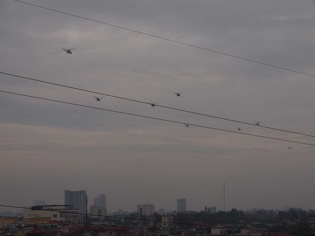Formation of helicopters