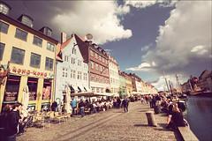 Copenhagen - Harbour (manlio_k) Tags: sky clouds vintage copenhagen denmark nyhavn harbour