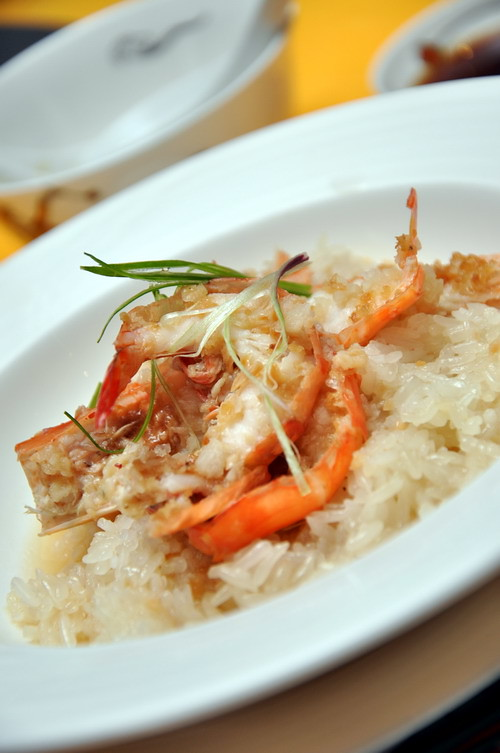 Fragrant Glutinous Rice, drunken garlic prawn