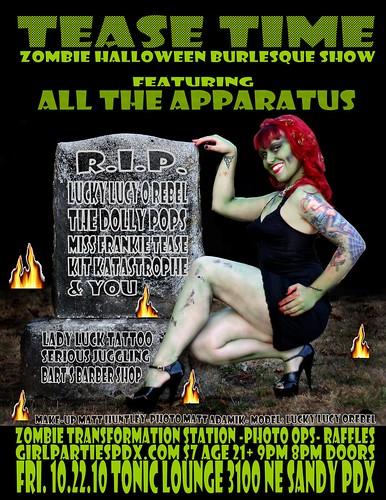 'Tease Time Zombie Halloween Burlesque Show' | Portland Oregon