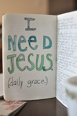 I need Jesus ([snix]) Tags: love moleskine 35mm watercolor truth jesus journal grace quiettimes