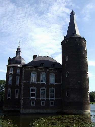 rear view of Hoensbroek Castle with moat