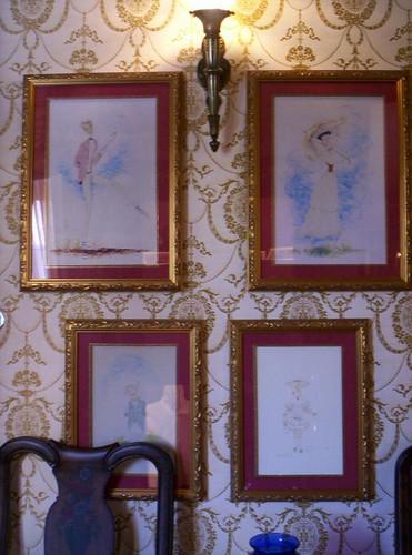 Club 33 Restroom art
