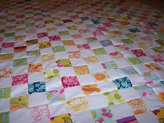 Postage Stamp Quilt Close Up