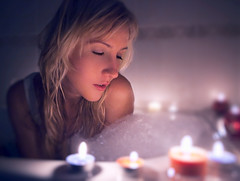 Dreams. (Yagoda.) Tags: portrait people woman girl face bath candles canon5d russian beautifulgirl russiangirl canon2470mm28 canoneos5dmarkii irinafedinaphotography