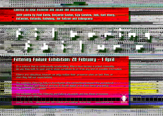Filtering Failure - Exhibition in Amsterdam 25/2/2011
