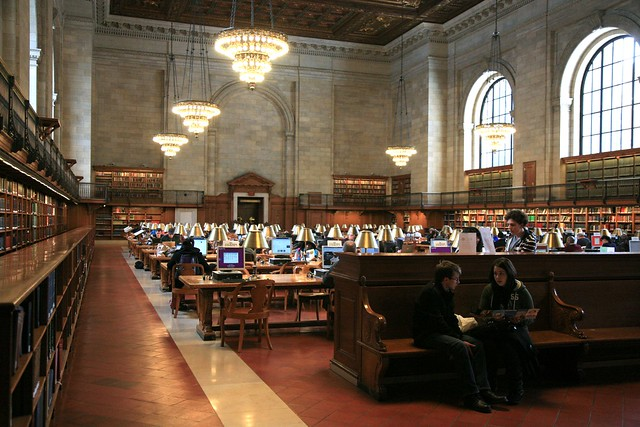 "New York City, New York Public Library NYPL, Stephen A. Schwarzman Building, 1897-1911 : "" Rose Main reading Room """