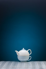 Tea (Scott McClure -) Tags: life blue stilllife coffee metal still energy peace tea metallic peaceful calm teapot powerful steal