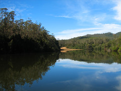 The Mirror Has Two Faces (Sangeeth VS) Tags: blue sky india reflection water forest canon reflections still bluesky calm wellington serene s2is beulah stillness tamilnadu coonoor greatphoto kotagiri reserveforest beulahfarm raliah kotagiriroad raliahheightmountain raliahreserveforest raliahdam