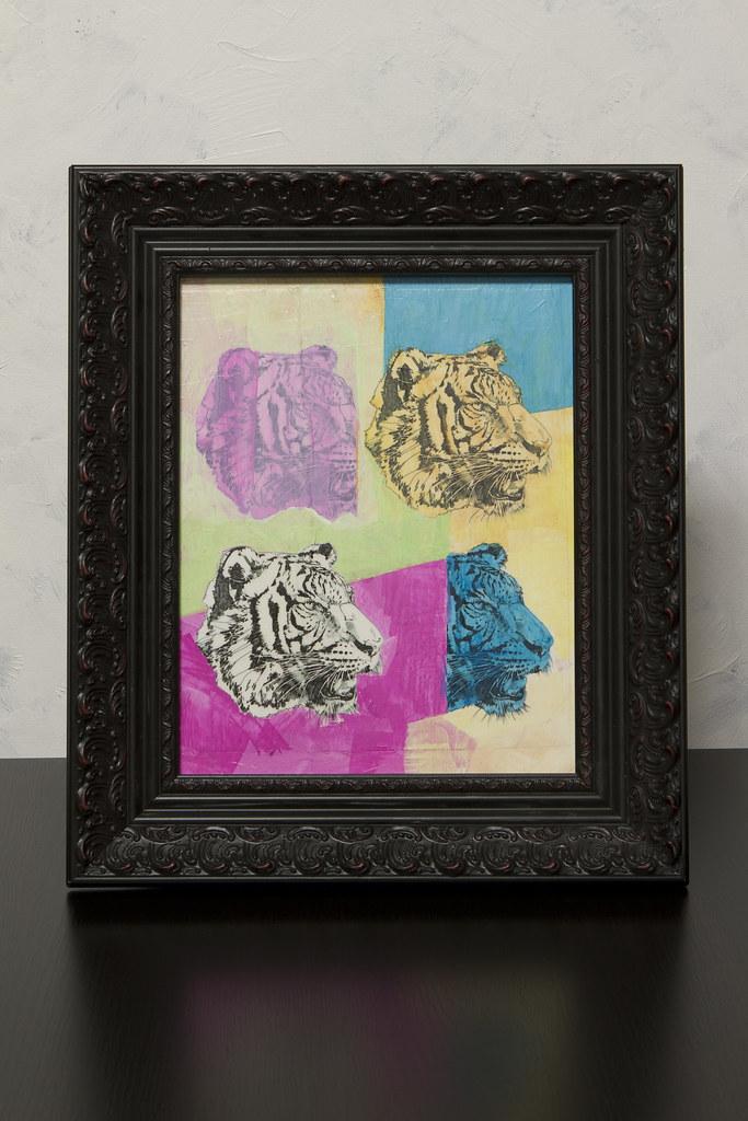 4 Tigers Framed