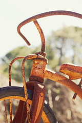 Its just like riding a bike (JennRation Design) Tags: tricycle rusty weatherd