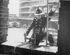 Hook Ladder Drill circa 1960 (corncrake68) Tags: london fire hook ladders brigade drills
