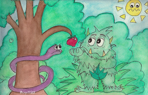Grumpus and the apple
