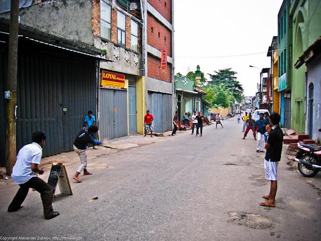Крикет на улице