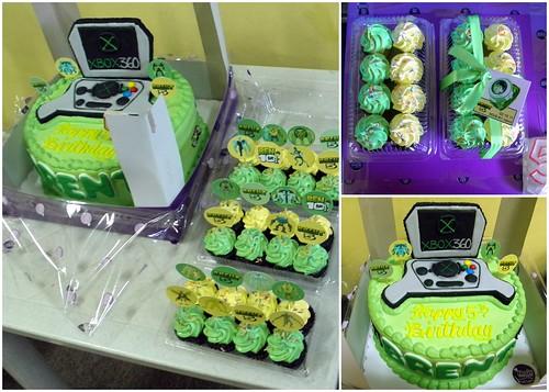 Ikos-bakeshop, birthday-cake, ben10-cupcakes