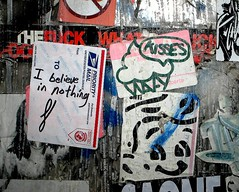 On the LES (LoisInWonderland) Tags: newyorkcity streetart graffiti sticker stickerart lowereastside curly