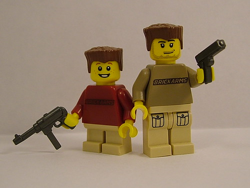 Custom minifig Will and Ian Chapman with Printed Torsos