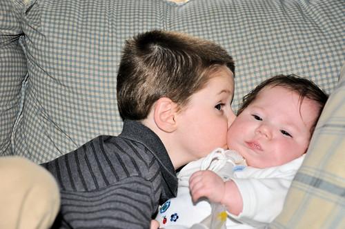 caleb kissing abby